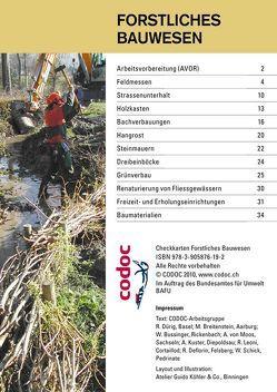 Checkkarte Forstliches Bauwesen