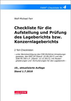Checkliste 4 für die Aufstellung und Prüfung des Lageberichts bzw. Konzernlageberichts von Farr,  Wolf-Michael