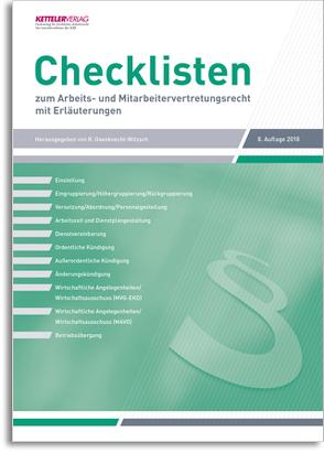 Checklisten 8. Auflage 2018 von Bartels,  Wolfgang, Fey,  Detlev, Oxenknecht-Witzsch,  Renate
