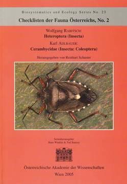 Checklisten der Fauna Österreichs, Nr. 2 – Heteroptera (Insecta) Cerambycidae (Insecta: Coleoptera) von Adlbauer,  Karl, Rabitsch,  Wolfgang, Stuessy,  Tod, Winkler,  Hans