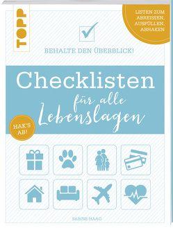 Checklisten für alle Lebenslagen von Haag,  Sabine