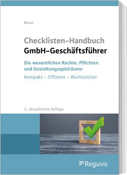 Checklisten Handbuch GmbH-Geschäftsführer von Bosse,  Christian