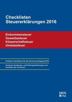 Checklisten Steuererklärungen 2016 von Arndt,  Thomas, Lähn,  Annette, Perbey,  Uwe
