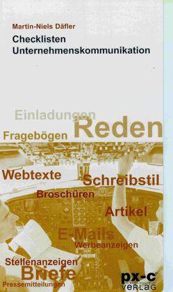 Checklisten Unternehmenskommunikation von Däfler,  Martin-Niels