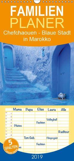 Chefchaouen – Blaue Stadt in Marokko – Familienplaner hoch (Wandkalender 2019 , 21 cm x 45 cm, hoch) von Rusch - www.w-rusch.de,  Winfried