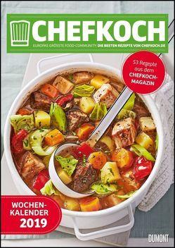 Chefkoch Wochenkalender 2019 – Küchen-Kalender mit 53 Rezepten – Format 21,0 x 29,7 cm – Spiralbindung von DUMONT Kalenderverlag, Gruner und Jahr