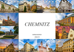 Chemnitz Impressionen (Tischkalender 2019 DIN A5 quer) von Meutzner,  Dirk