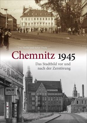 Chemnitz nach der Zerstörung 1945 von Schlossbergmuseum Chemnitz,  Uwe