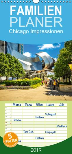Chicago Impressionen – Familienplaner hoch (Wandkalender 2019 , 21 cm x 45 cm, hoch) von Meutzner,  Dirk