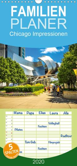 Chicago Impressionen – Familienplaner hoch (Wandkalender 2020 , 21 cm x 45 cm, hoch) von Meutzner,  Dirk
