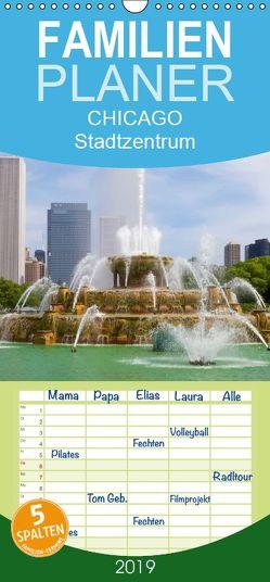 CHICAGO Stadtzentrum – Familienplaner hoch (Wandkalender 2019 , 21 cm x 45 cm, hoch) von Viola,  Melanie