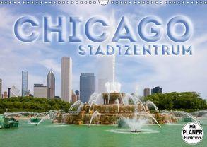 CHICAGO Stadtzentrum (Wandkalender 2018 DIN A3 quer) von Viola,  Melanie
