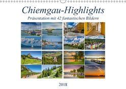 Chiemgau-Highlights (Wandkalender 2018 DIN A3 quer) von Di Chito,  Ursula
