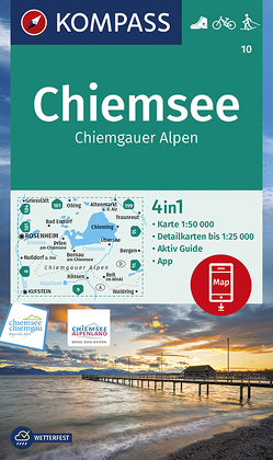 Chiemsee, Chiemgauer Alpen von KOMPASS-Karten GmbH