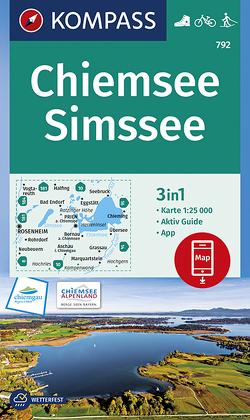 Chiemsee, Simssee von KOMPASS-Karten GmbH