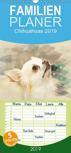 Chihuahuas 2019 – Familienplaner hoch (Wandkalender 2019 , 21 cm x 45 cm, hoch) von Redecker,  Andrea