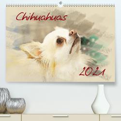 Chihuahuas 2021 (Premium, hochwertiger DIN A2 Wandkalender 2021, Kunstdruck in Hochglanz) von Redecker,  Andrea