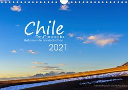 Chile DesConocido (Wandkalender 2021 DIN A4 quer) von Gysel Lenk,  David