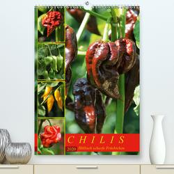 Chilis – Höllisch scharfe Früchtchen (Premium, hochwertiger DIN A2 Wandkalender 2020, Kunstdruck in Hochglanz) von Cross,  Martina