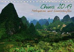 China 2019 – Metropolen und Landschaften (Tischkalender 2019 DIN A5 quer) von Taubenrauch,  Heiko
