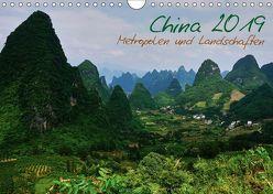 China 2019 – Metropolen und Landschaften (Wandkalender 2019 DIN A4 quer) von Taubenrauch,  Heiko