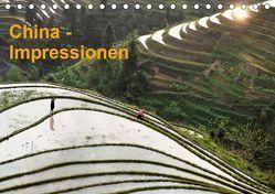 China-Impressionen (Tischkalender 2019 DIN A5 quer) von Burbach,  Hans-Peter