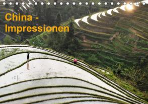 China-Impressionen (Tischkalender 2021 DIN A5 quer) von Burbach,  Hans-Peter