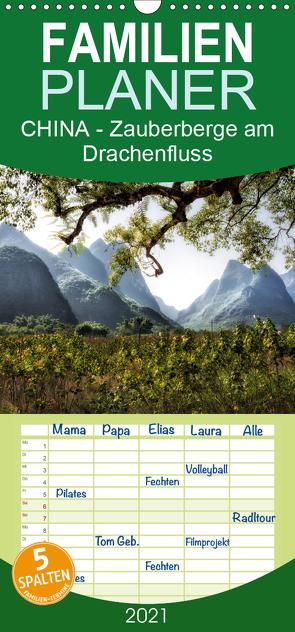 CHINA – Zauberberge am Drachenfluss – Familienplaner hoch (Wandkalender 2021 , 21 cm x 45 cm, hoch) von Kuczinski,  Rainer