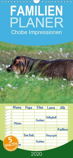 Chobe Impressionen – Familienplaner hoch (Wandkalender 2020 , 21 cm x 45 cm, hoch) von Wolf,  Gerald