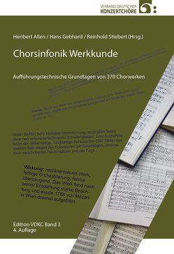 Chorsinfonik Werkkunde von Allen,  Heribert, Gebhard,  Hans, Stiebert,  Reinhold