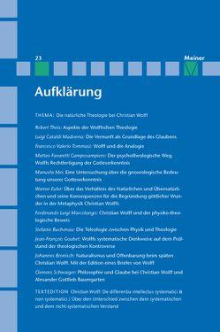 Christian Wolff von Albrecht,  Michael, Kreimendahl,  Lothar, Mulsow,  Martin, Vollhardt,  Friedrich