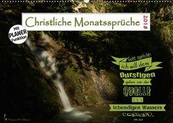 Christliche Monatssprüche 2018 (Wandkalender 2018 DIN A2 quer) von HC Bittermann,  Photograph