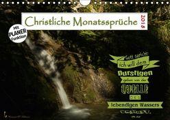 Christliche Monatssprüche 2018 (Wandkalender 2018 DIN A4 quer) von HC Bittermann,  Photograph