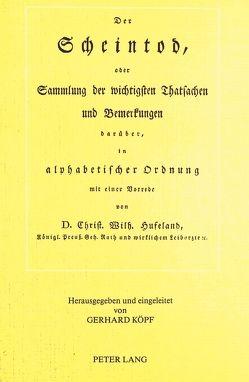Christoph Wilhelm Hufeland- Der Scheintod