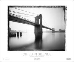 Christopher Thomas: Cities in Silence 2020 – Schwarzweiß-Fotografie aus New York, Los Angeles, Venedig und Paris – Wandkalender 58,4 x 48,5 cm – Spiralbindung von DUMONT Kalenderverlag, Thomas,  Christopher