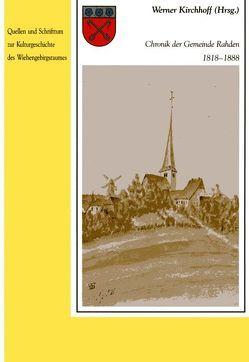 Chronik der Gemeinde Rahden 1818-1888 von Kirchhoff,  Werner