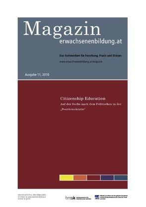 Citizenship Education. Auf der Suche nach dem Politischen in der Postdemokratie von Kloyber,  Christian, Vater,  Stefan