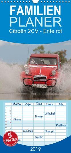 Citroën 2CV – Ente rot – Familienplaner hoch (Wandkalender 2019 , 21 cm x 45 cm, hoch) von Bölts,  Meike