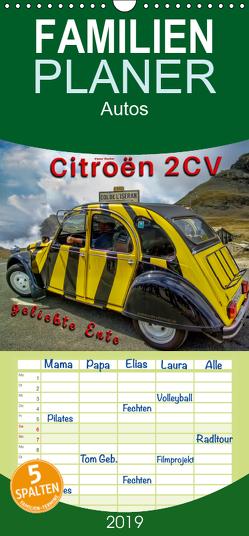 Citroën 2CV – geliebte Ente – Familienplaner hoch (Wandkalender 2019 , 21 cm x 45 cm, hoch) von Roder,  Peter