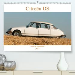 Citroën DS Göttin im Mittelrheintal (Premium, hochwertiger DIN A2 Wandkalender 2021, Kunstdruck in Hochglanz) von Bölts,  Meike
