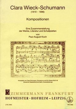 Clara-Wieck Schumann von Koch,  Paul A
