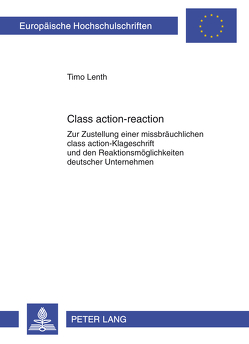Class action-reaction von Lenth,  Timo