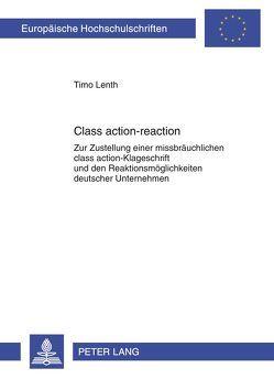 Class action-reaction von Lenth,  Timo