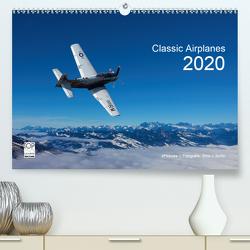 Classic Airplanes 2020CH-Version (Premium, hochwertiger DIN A2 Wandkalender 2020, Kunstdruck in Hochglanz) von J. Koller,  Alois