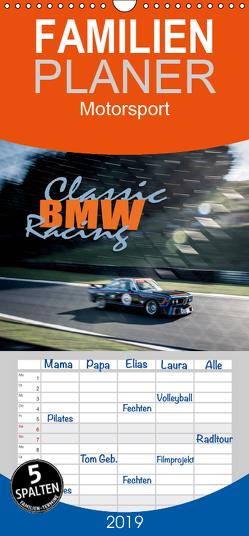 Classic BMW Racing – Familienplaner hoch (Wandkalender 2019 , 21 cm x 45 cm, hoch) von Hinrichs,  Johann