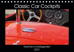 Classic Car Cockpits (Tischkalender 2021 DIN A5 quer) von Eble,  Tobias