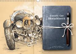 Classic Car Sketchbook (Wandkalender 2019 DIN A3 quer) von Siepker,  Andrea