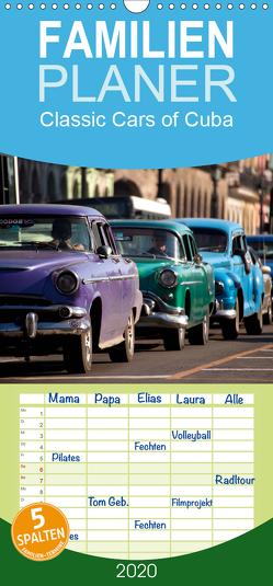 Classic Cars of Cuba – Familienplaner hoch (Wandkalender 2020 , 21 cm x 45 cm, hoch) von Schickert,  Peter