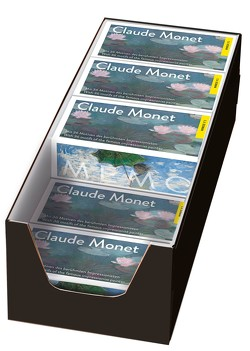 Claude Monet. Memo 10 Spiele im Verkaufsdisplay