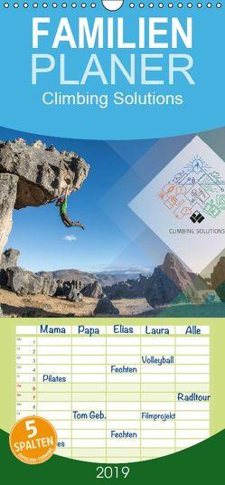 Climbing Solutions – Bergsport weltweit – Familienplaner hoch (Wandkalender 2019 <strong>21 cm x 45 cm</strong> hoch) von Brunner,  Stefan